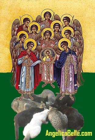 Greek Orthodox synaxis of angels over kitties