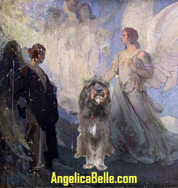 Painting is Angels Leading the Solider by Aderente, 1919