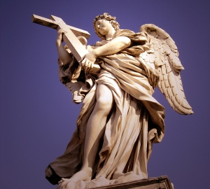 Angel with the Cross sculpture by Bernini