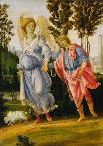 Tobias and the Angel, c. 1475, oil and tempera on panel, by Filippino Lippi