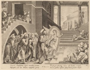 Philip Galle after Maerten van Heemskerck (Flemish, 1537 - 1612 ), The Apostles Delivered from Prison by an Angel, , engraving